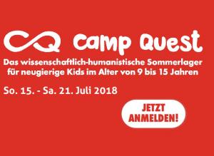 CampQuest 2018, das wissenschaftlich-humanistische Sommerlager für Kids